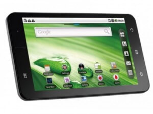 Tablet ZTE y Movistar