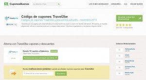 cuponesbuenos.es - travel2be - Cupones y Descuentos